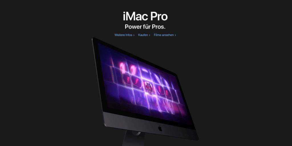 iMac Pro als Beispiel vom guten Design - Marketing Beratung und Webseiten Erstellung München und Starnberg