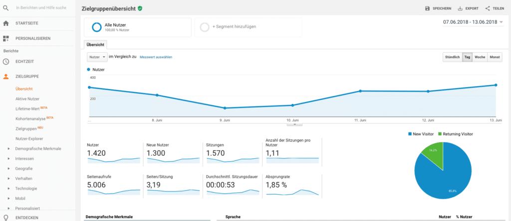 Google Analytics - Marketing Beratung und Webseiten Erstellung München und Starnberg