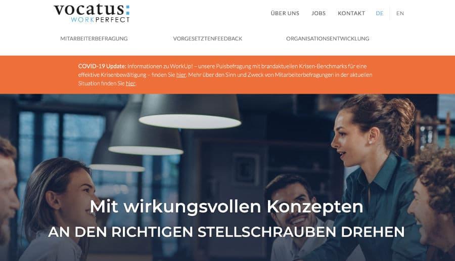 VOCATUS WorkPerfect - ganzVORNE Kunden - Online Marketing Beratung und Webseiten München und Starnberg