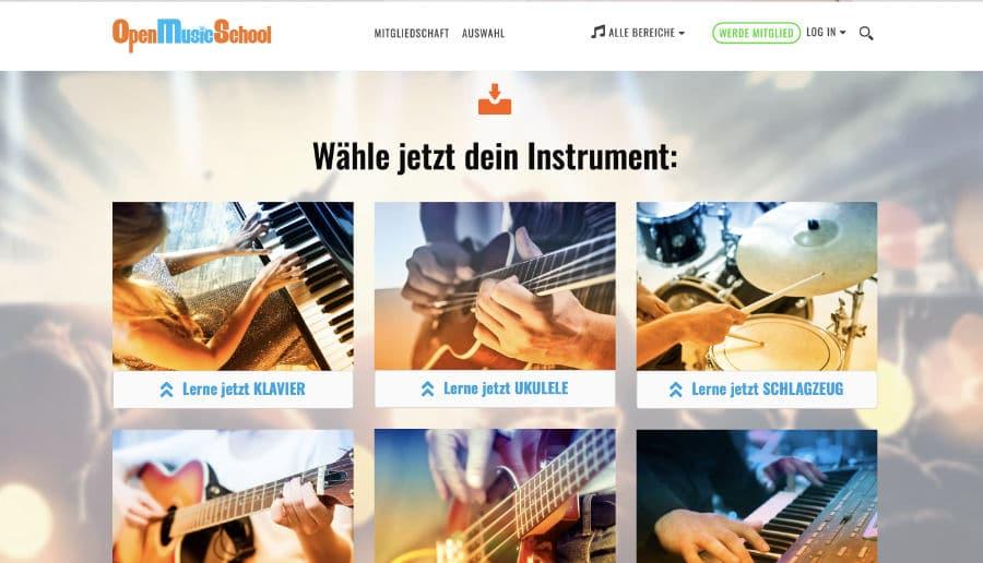 OpenMusicSchool Musikschule - ganzVORNE Kunden - Online Marketing Beratung und Webseiten München und Starnberg