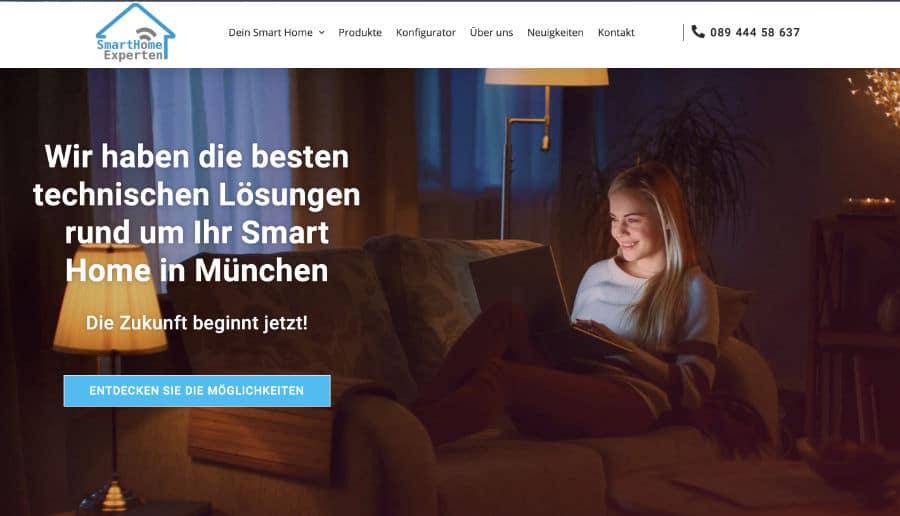 Smart Home Experten München - ganzVORNE Kunden - Online Marketing Beratung und Webseiten München und Starnberg