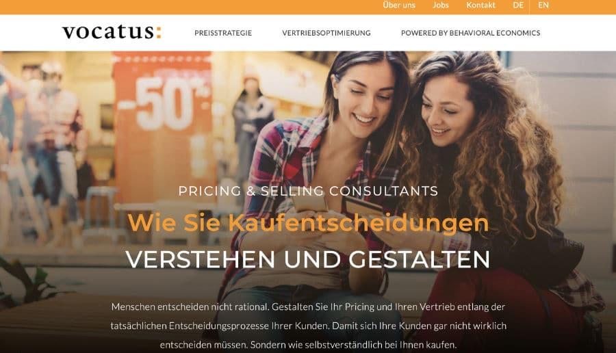 VOCATUS AG - ganzVORNE Kunden - Online Marketing Beratung und Webseiten München und Starnberg