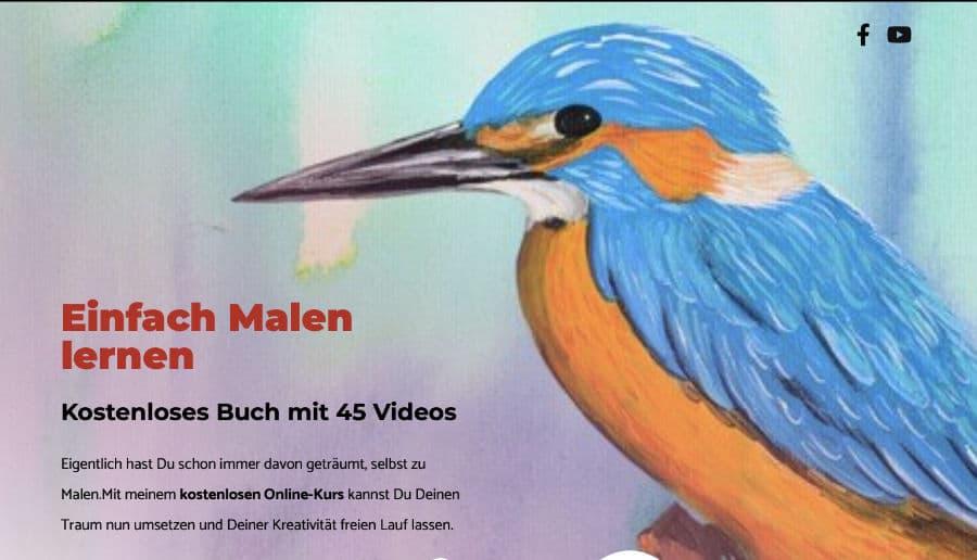 Einfach Malen Lernen - ganzVORNE Kunden - Online Marketing Beratung und Webseiten München und Starnberg