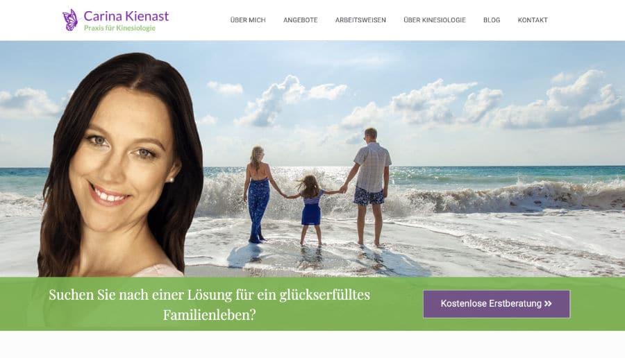 Carina Kienast Kinesiologie - ganzVORNE Kunden - Online Marketing Beratung und Webseiten München und Starnberg