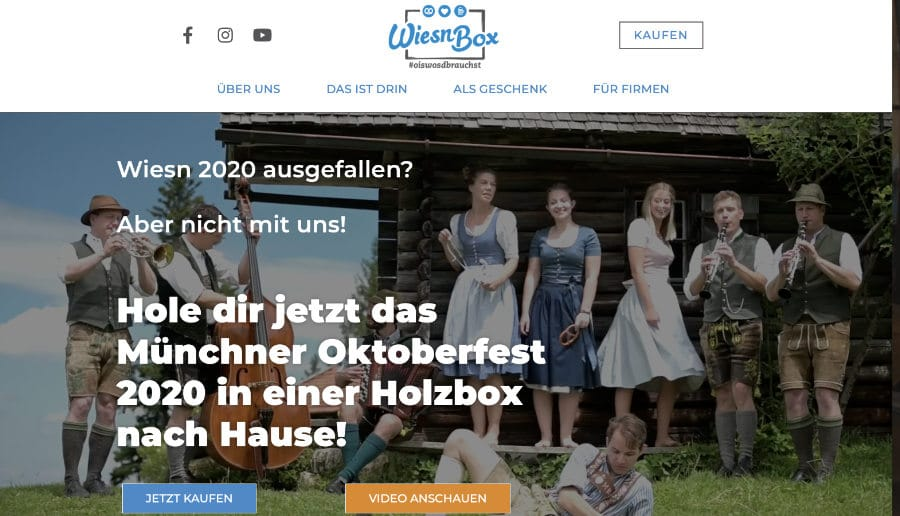 WiesnBox - ganzVORNE Kunden - Online Marketing Beratung und Webseiten München und Starnberg
