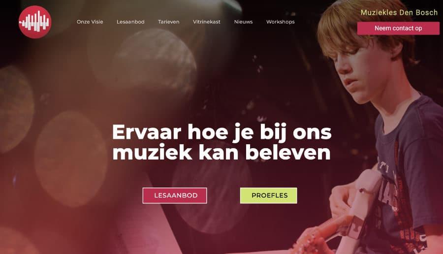 Muziekles Den Bosch - ganzVORNE Kunden - Online Marketing Beratung und Webseiten München und Starnberg