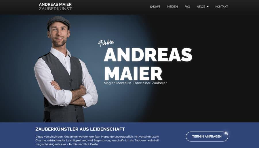 Andreas Meier - ganzVORNE Kunden - Online Marketing Beratung und Webseiten München und Starnberg