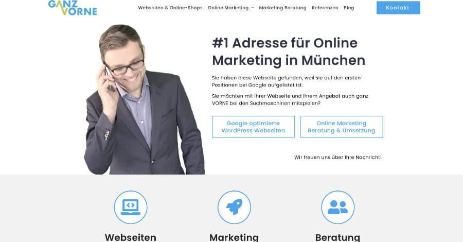 Online Marketing Agentur München - Landingpage Erstellung