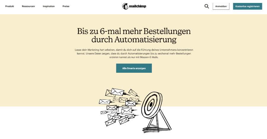 Online Marketing Agentur München - Landingpage Erstellung Mailchimp