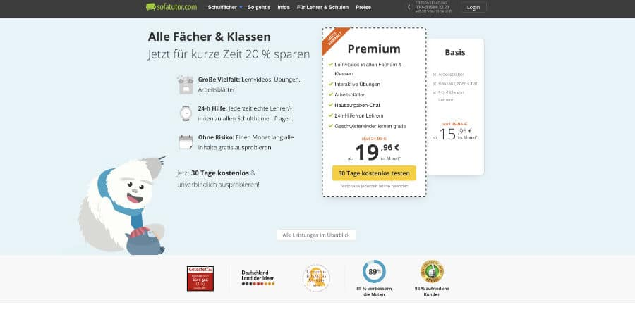Online Marketing Agentur München - Auszeichnungen Landingpage